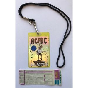AC/DC hologram all access pass w/ ticket stub